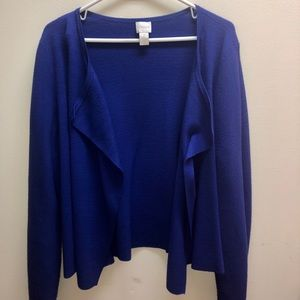 Chicos blue sweater